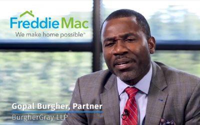 Gopal Burgher Interviewed in Freddie Mac Video Speaking about the Freddie Mac Vendor Academy