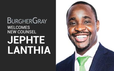Jephte Lanthia Joins BurgherGray's New York Office